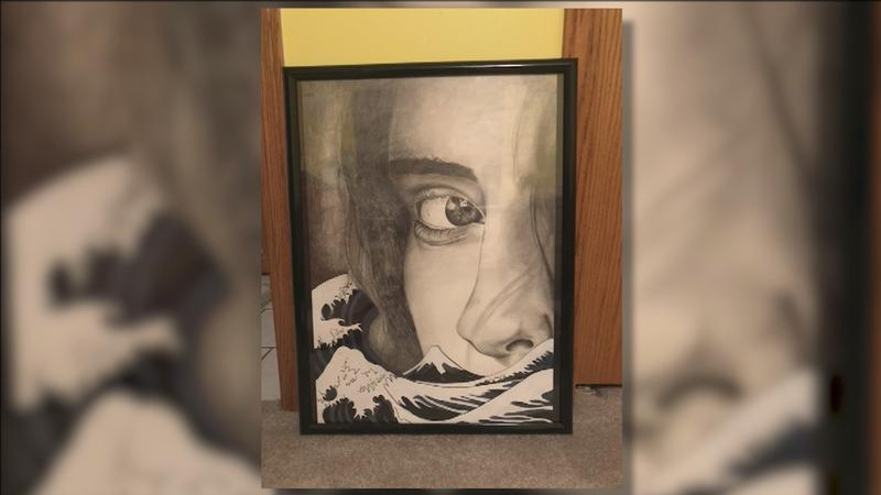 Bayley Anderson's painting was stolen from the Miller Hill Mall in March 2017.