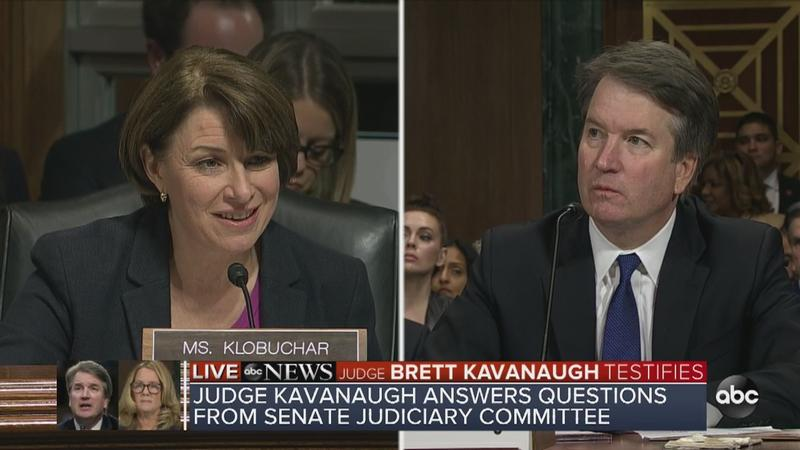 Sen. Amy Klobuchar and Supreme Court nominee Brett Kavanaugh had a tense exchange about drinking during Thursday's hearing