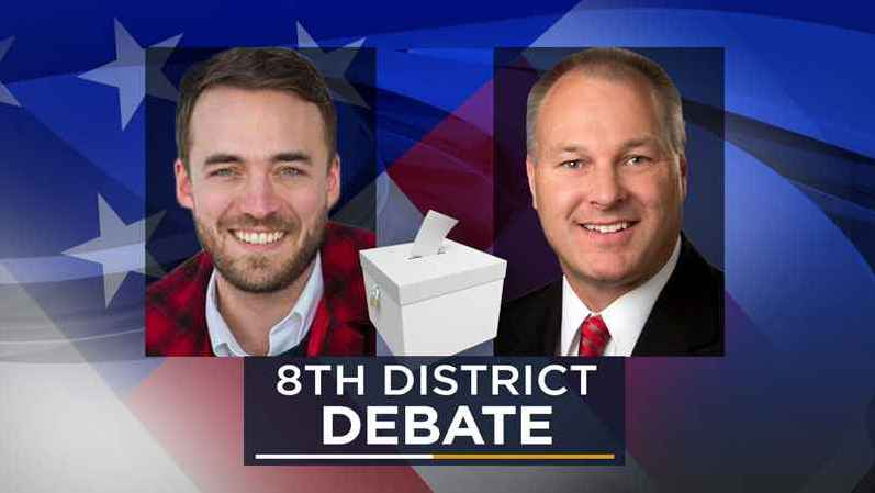 DFL-backed Joe Radinovich and GOP candidate Pete Stauber, both running for Minnesota's 8th Congressional seat, squared off in a debate in Brainerd on Monday night.
