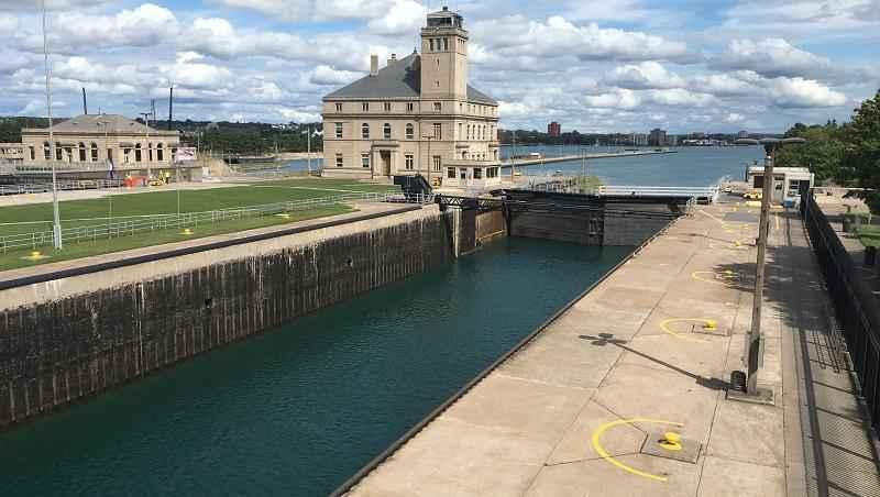 Congress has taken a key step toward building a long-sought shipping lock on the waterway linking Lakes Huron and Superior.