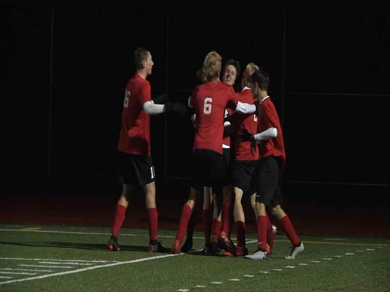 Duluth East Boy's Soccer defeats Forest Lake 1-0 in the section semifinals.