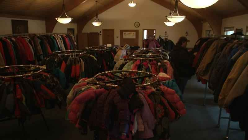 Racks of coats are ripe for the picking at the Salvation Army in Superior.