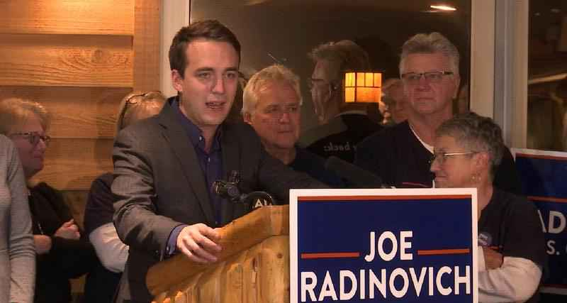 Joe Radinovich�conceded defeat to Pete Stauber�Wednesday morning in the 8th Congressional District race.