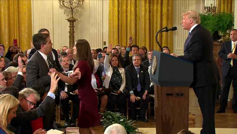 The White House suspended CNN reporter Jim Acosta's press pass after his interaction with an intern trying to take a microphone away from him. But a production expert says a video of the incident tweeted by the White House appears to have been doctored.