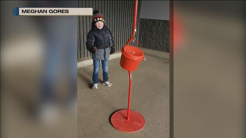 A Hermantown Boy Scout was spreading the holiday cheer for shoppers at Sam's Club in a unique way.�