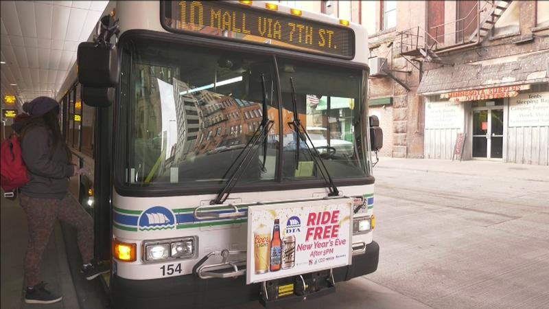 The New Year's Eve Ride Free Campaign is offering folks in the Twin Ports a safe, and free, way to get home during the celebration. Citizens and visitors can ride free on all regular routes beginning at 5:00 p.m. on Monday, December 31.