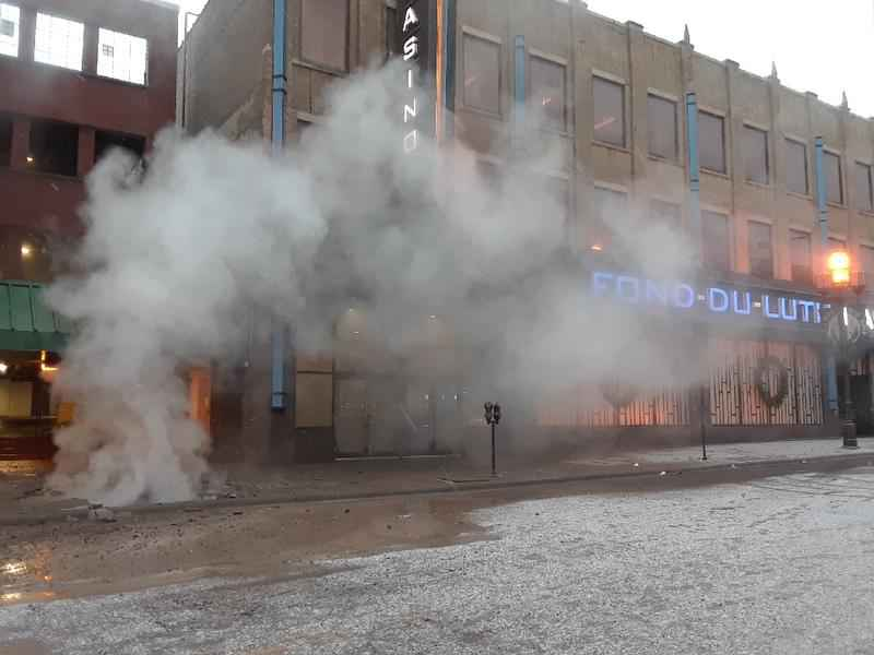 An official with Duluth Energy Systems says it appears a failure from a steam line near Fon-du-Luth Casino caused a plume of steam around East Superior Street Wednesday morning.