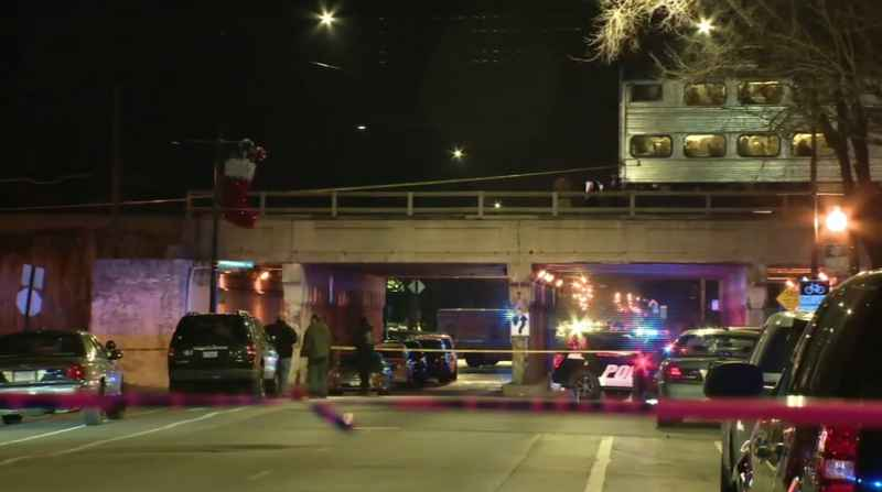 Chicago police say two officers investigating a shots-fired call on the city's far South Side have died after being struck by a train.