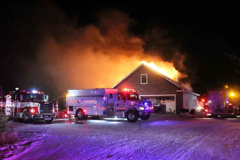 Authorities from 6 fire departments responded to a large house fire in Clinton Township on Sunday night. All occupants were able to evacuate the residence, however, the home is considered a total loss.