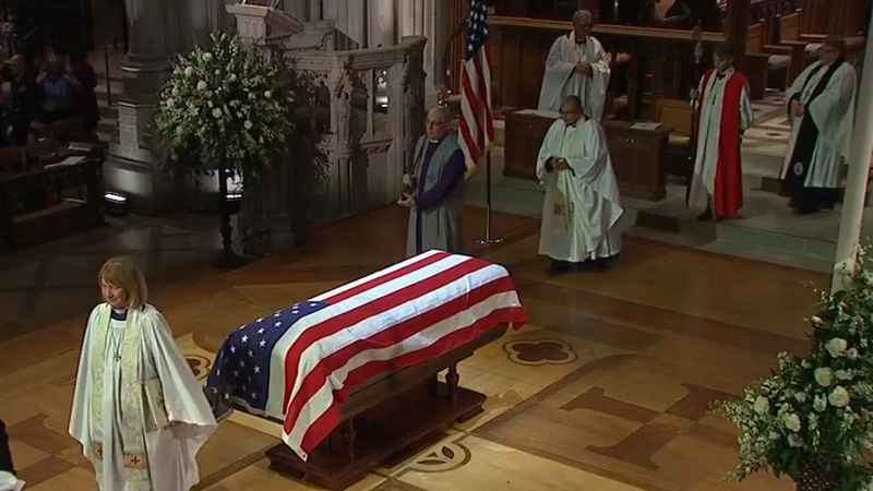 Friends and family gathered at Washington National Cathedral under tight security for a funeral service honoring late former President George H.W. Bush.