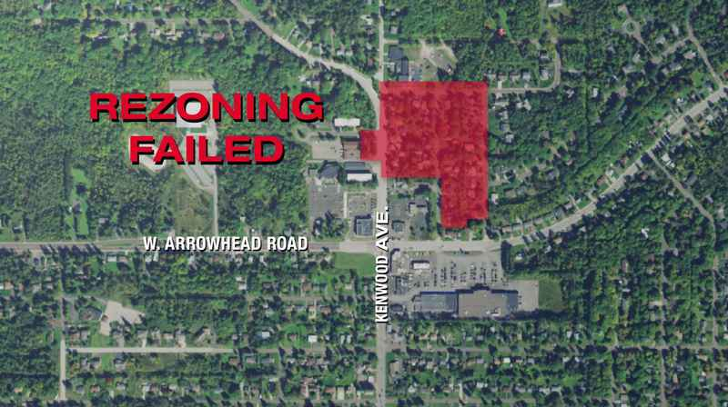 On Monday, The Duluth City Council denied a re-zoning attempt in the Kenwood neighborhood in an area known as Area-A.