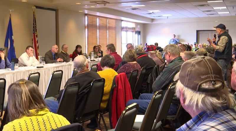 A forum was hosted by Rep. Pete Stauber in response to the website crash for BWCA permits at the Grand Ely Lodge Saturday.