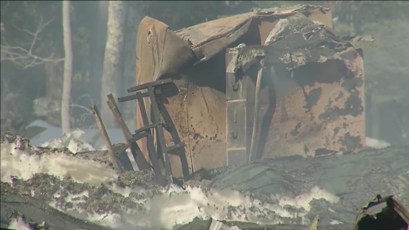 Fire destroyed the La Pointe Fire Hall early Wednesday.