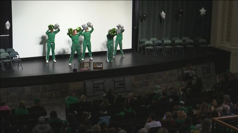Hundreds of Iron Rangers came out to the Greenway High School auditorium on Sunday night to welcome home the Greenway Boys Hockey Team.