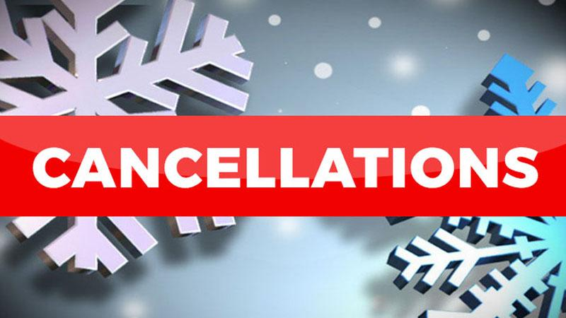 Cancellations and Closures Due to Weather