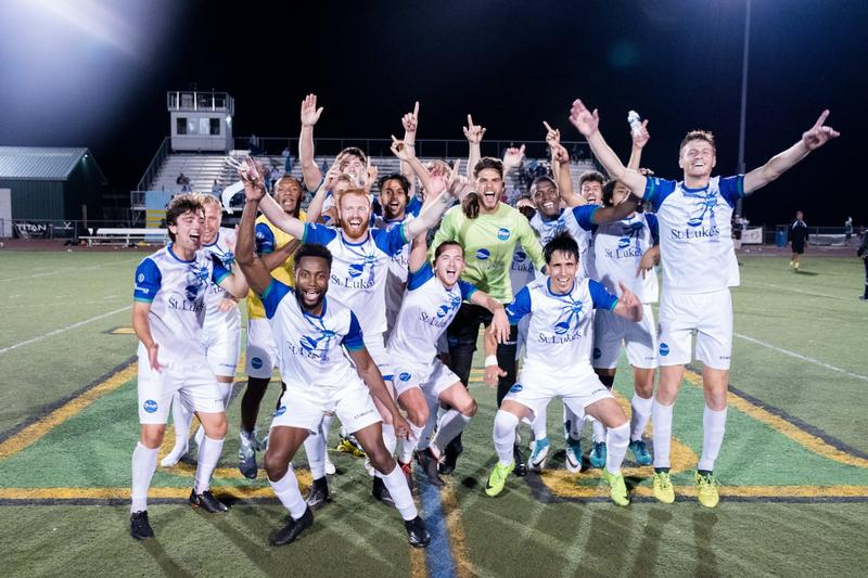 The Duluth FC celebrates after becoming the NPSL Midwest Region champions.
