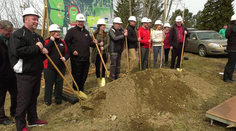 A groundbreaking ceremony was hosted in Aurora Wednesday to celebrate the construction of the new Mesabi East Physical Education and Athletic Complex.