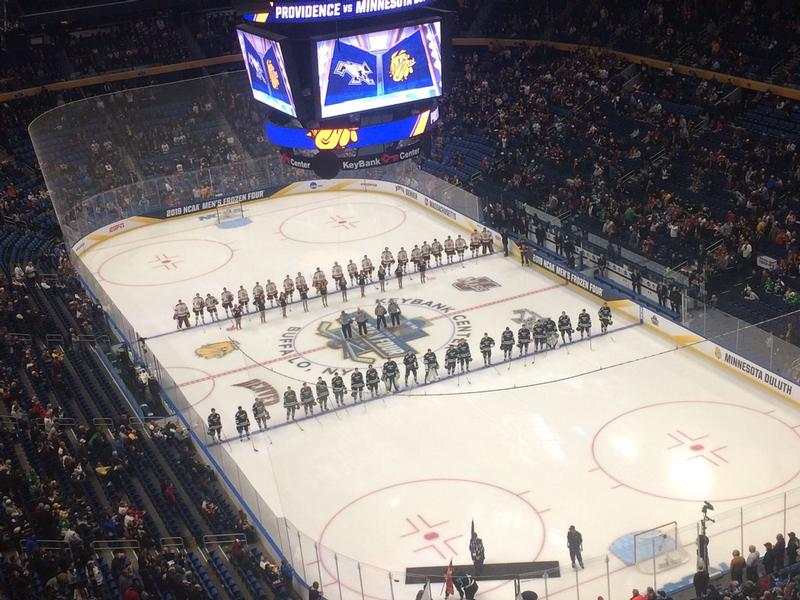 UMD and Providence played in the NCAA Frozen Four Semifinals on Thursday.