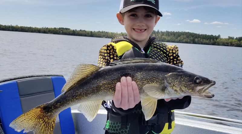 Dominic Bastianelli of Cook on Lake Vermilion with a 22 inch walleye.