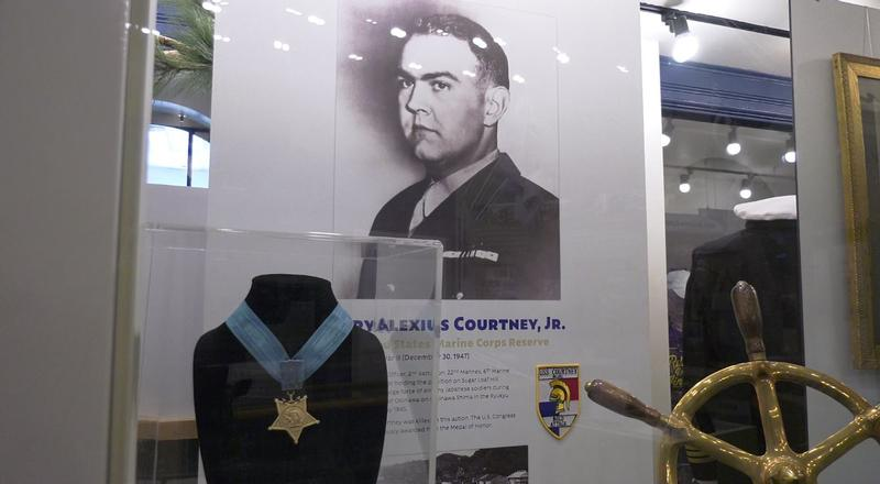 Major Henry A. Courtney's Medal of Valor is now displayed at the Veteran's Memorial Hall at the Depot.