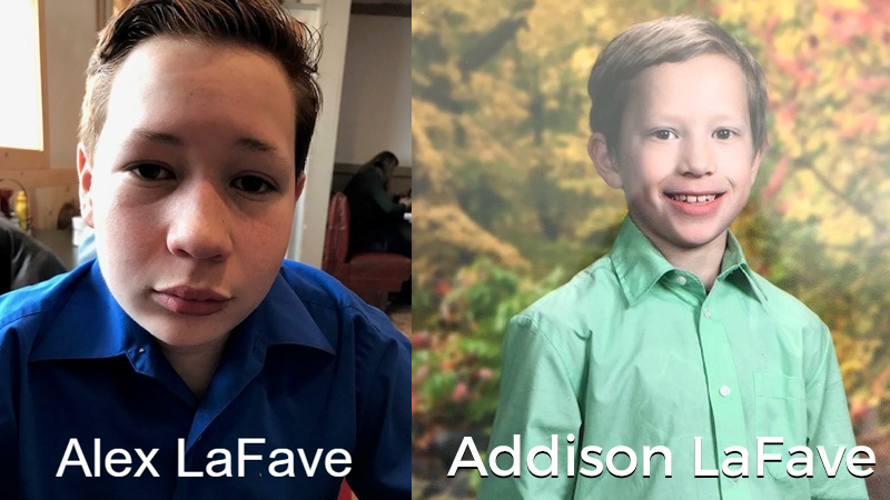 Alexander LaFave and Addison LaFave