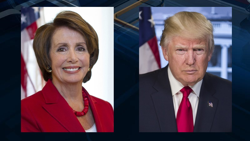 House Speaker Nancy Pelosi says President Donald Trump is engaged in a cover-up, which the president denies.