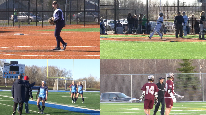 (Clockwise) Superior Softball, Superior Baseball, Duluth Boy's Lacrosse and Superior Soccer.