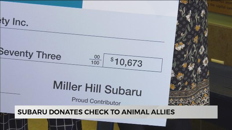 """Share The Love"" Subaru Donates Check to Animal Allies"