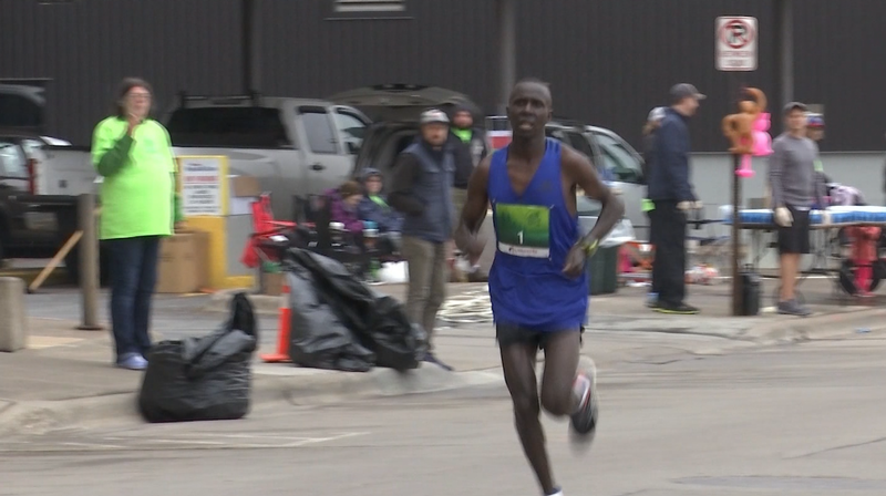Four-time defending Grandma's Marathon Men's Champion Elisha Barno