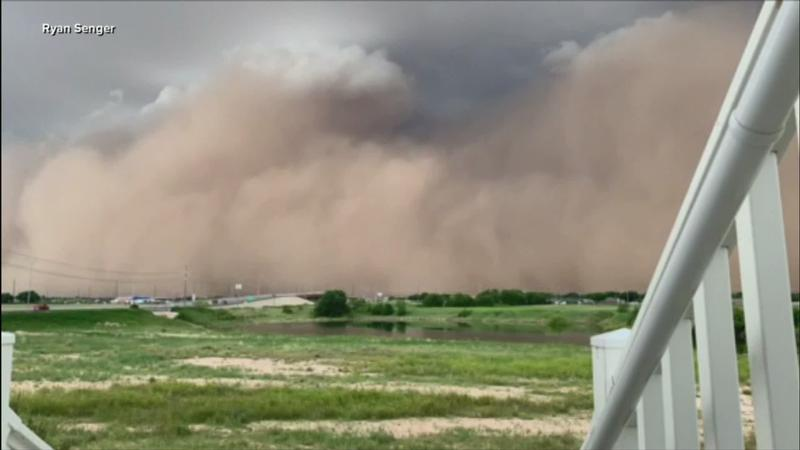 A dust storm blasts Lubbock, Texas on Wednesday