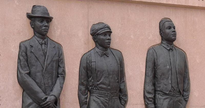 The Clayton, Jackson, McGhie Memorial in Duluth