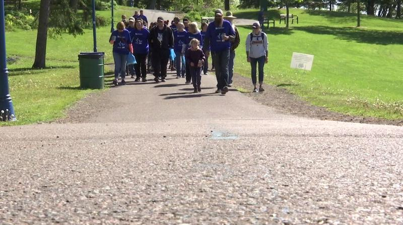 Community members raised funds for Huntington's Disease at the Duluth Minnesota Team Hope Walk.