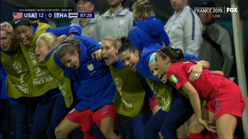 The U.S. Women's National Team began their 2019 World Cup run by routing Thailand in a 13-0 win.