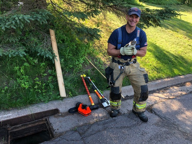 Kitten Rescued from Storm Drain in Duluth