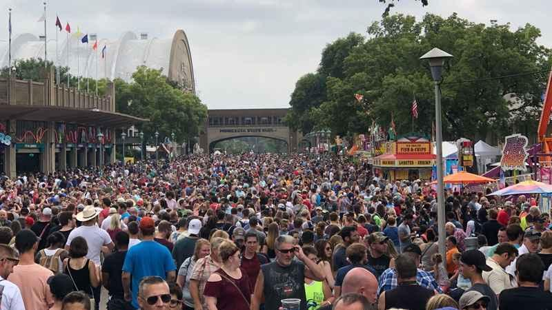 The Minnesota State Fair announced an attendance record was set for opening day in 2019.