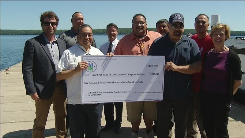 Department of Housing and Urban Development presents Red Cliff Band with funding for economic development.