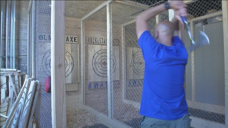 Axe Throwing at Blacklist Brewing Company