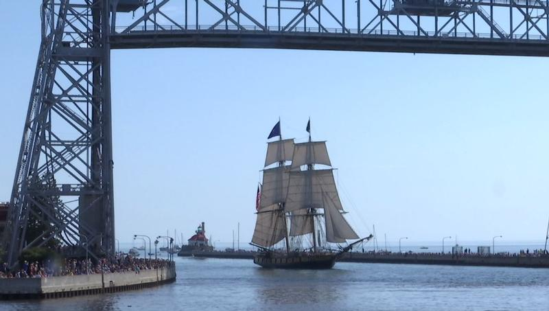 A variety of ships made their way to the Duluth Harbor for the Festival of Sail.