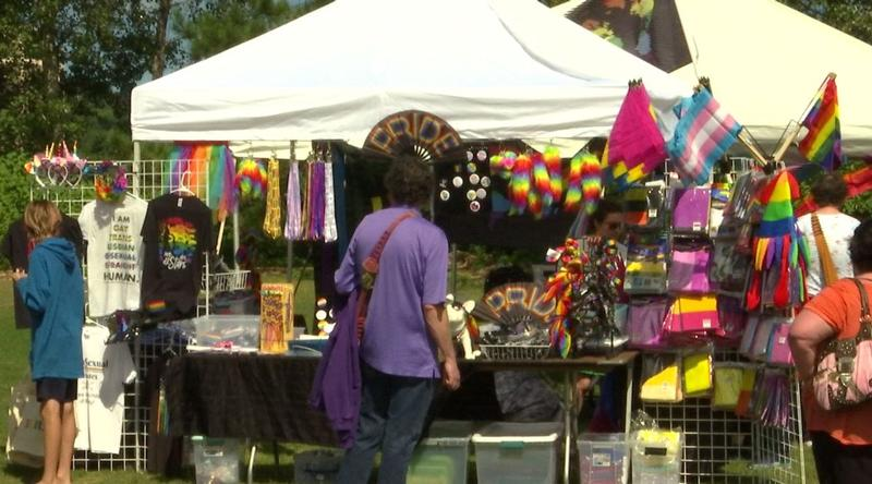 Folks enjoyed shopping with local vendors at the Pride Festival
