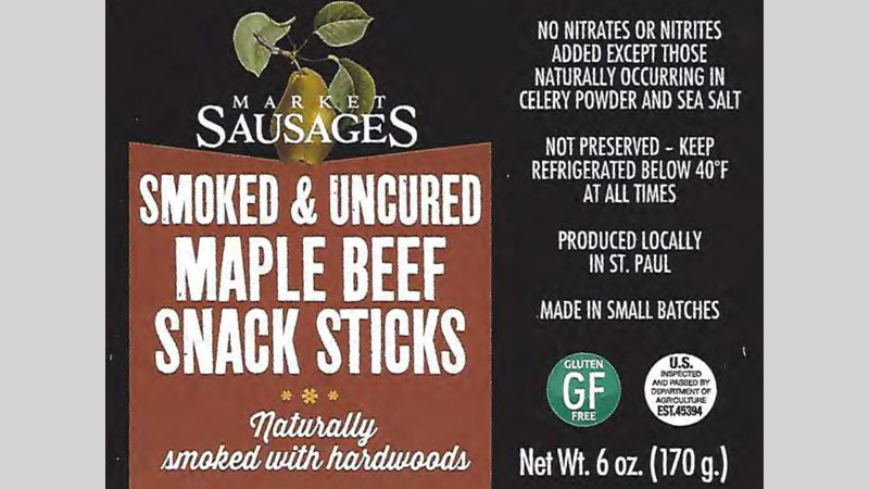CM&R Inc. Recalls Beef Stick Products
