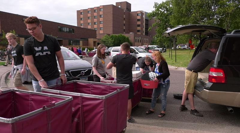 New students were welcomed to the UMD campus Thursday for Move in Day.