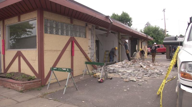 Fire officials say a worker was injured in an explosion at a commercial building in West Duluth Monday afternoon.
