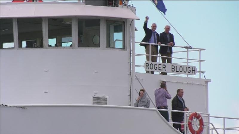 Congressmen Board Laker, Head to Soo Locks