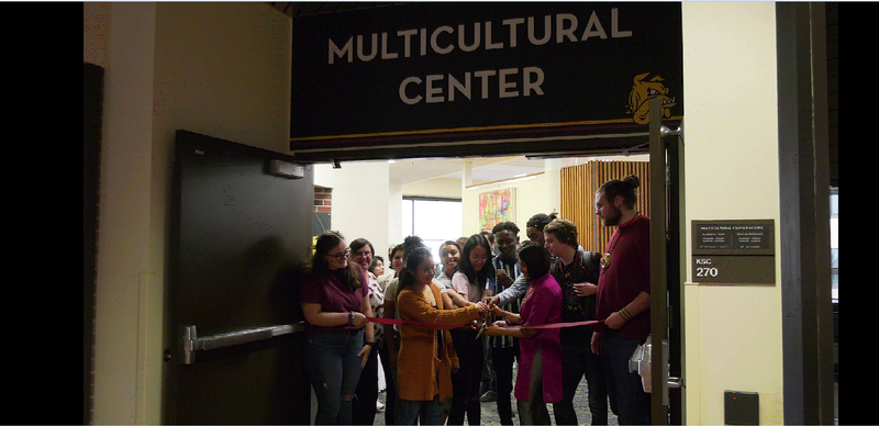 The official ribbon cutting for the Multicultural Center's reopening at UMD.