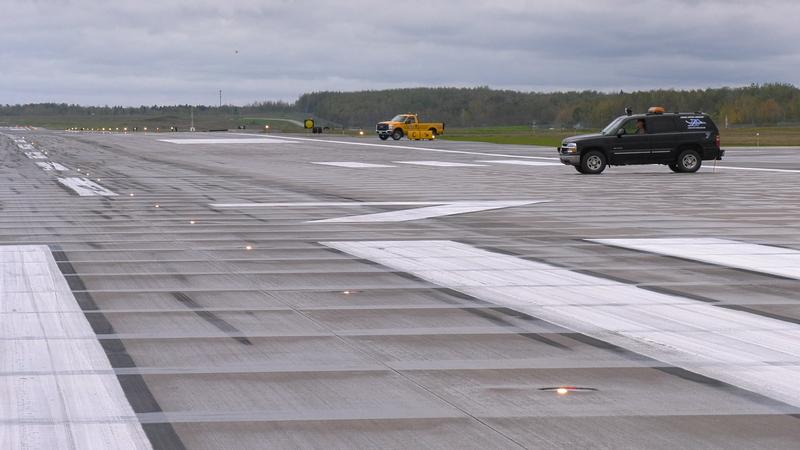 The Duluth International Airport celebrated its $38.3 million runway reconstruction project.