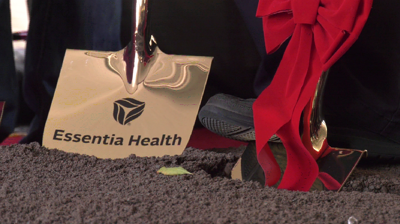 Over a dozen golden shovels hit the ground Wednesday morning in downtown Duluth for Essentia Health's 'Vision Northland' groundbreaking ceremony.