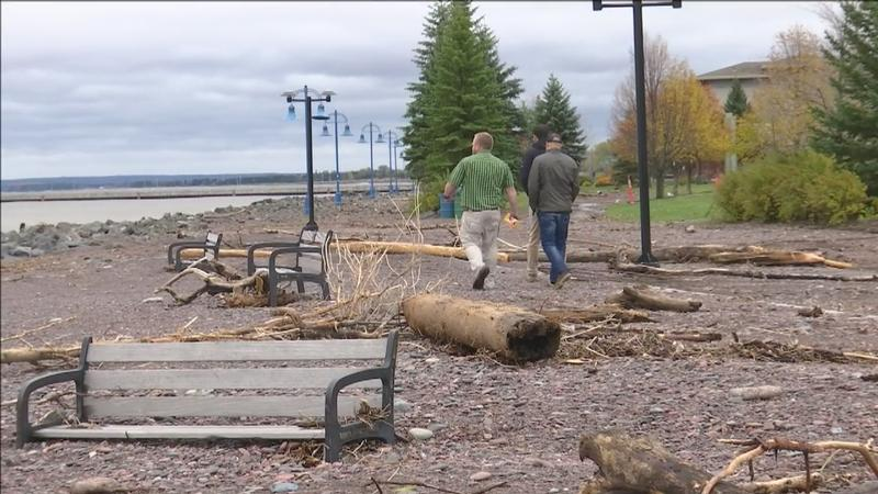 Park Point residents and some businesses in Canal Park were impacted by the October storm that ripped through much of the Northland.�