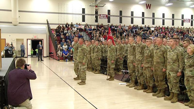 154 soldiers of the Wisconsin Army National Guard's 829th Engineer Company were given a special sendoff from the community.