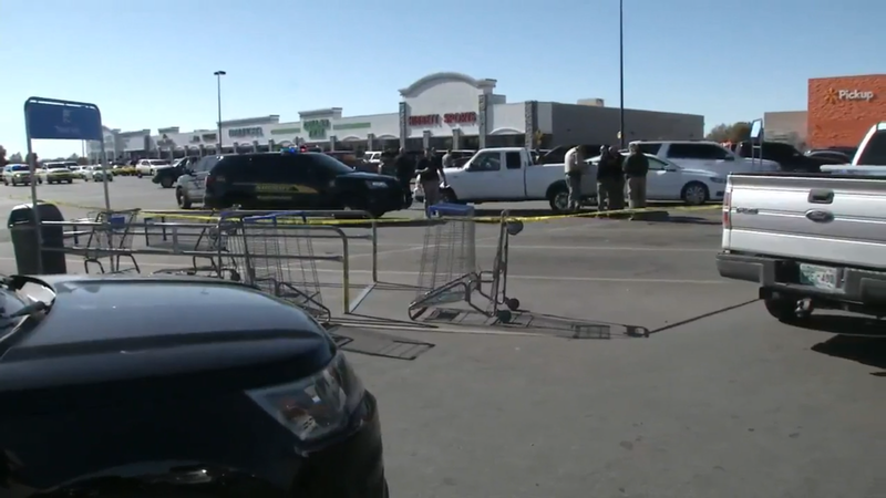 Police say three people are dead after a shooting at a Walmart in Oklahoma.