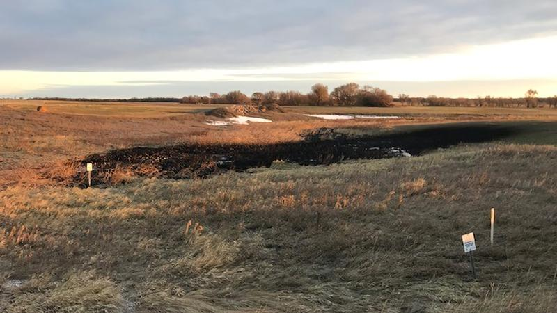 About 383,000 gallons of oil leaked from the Keystone pipeline in North Dakota.